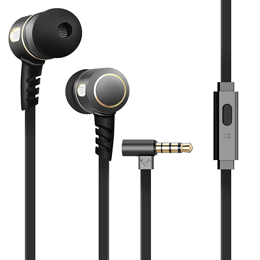 Wired metal earphone with fashionable design
