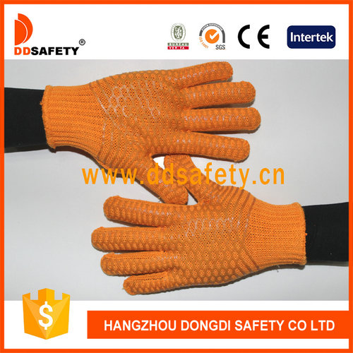 Knitted with PVC glove-DKP202