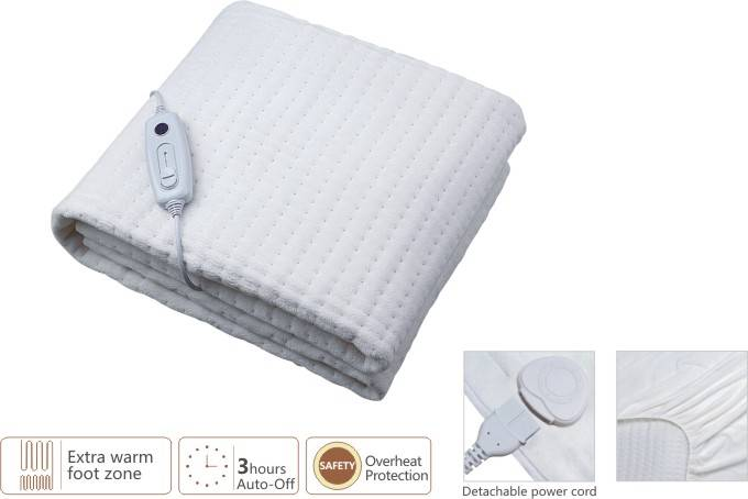 Electrically Heating Blanket on the bed