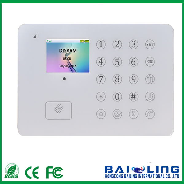 88wireless RFID card TFT/LCD home alarm system App control touch keypad smart home alarm system