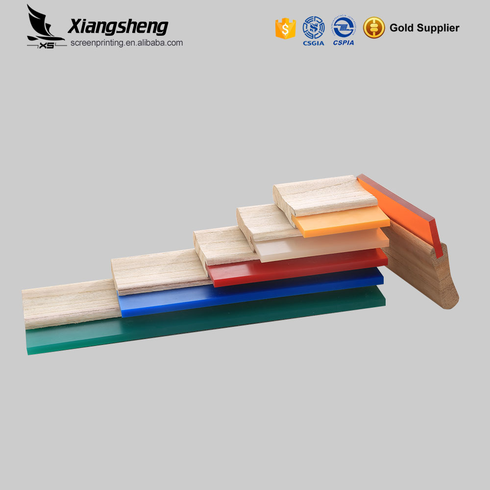 Screen printing polyurethane wooden handle squeegee from China manufacturer