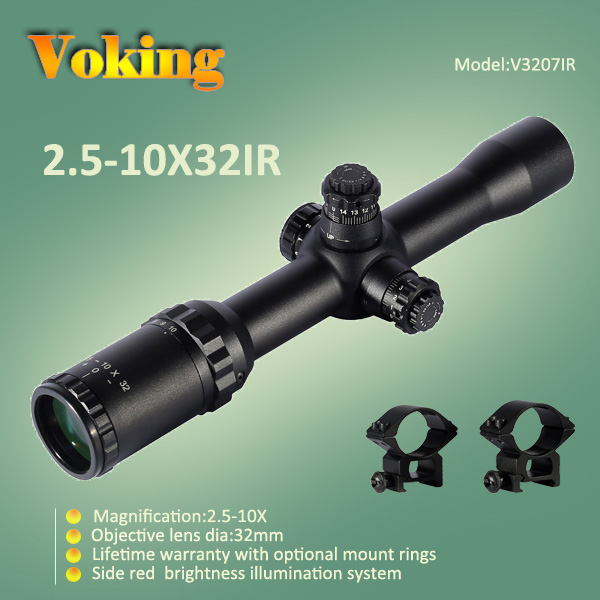 Voking 2.5-10X32 IR magnifier scope with your own APP