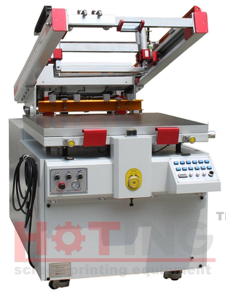 Clam shell semi automatic screen printing machine
