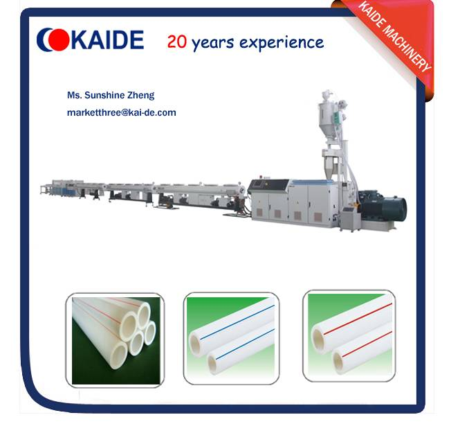 25m/min PPR/PPRC water pipe production line KAIDE