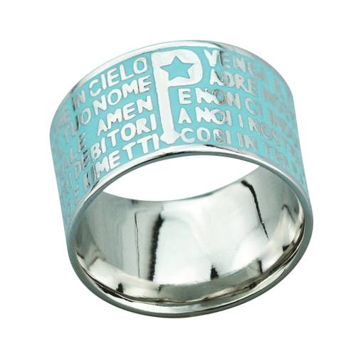2015 Manli the newest style temperament sweet natural blue Bible Rings