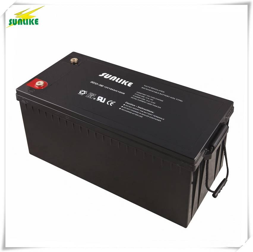 12V Battery Deep Cycle Battery Solar Gel Battery 12V180ah