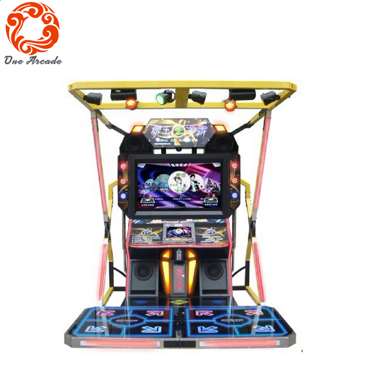 Amusement Video Game Coin Operated King Of Dancer Dancing Music Game Machine