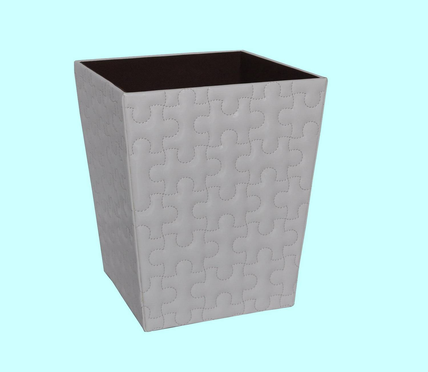 Faux Leather Wast Bin Manufacture Supply Home Accessories