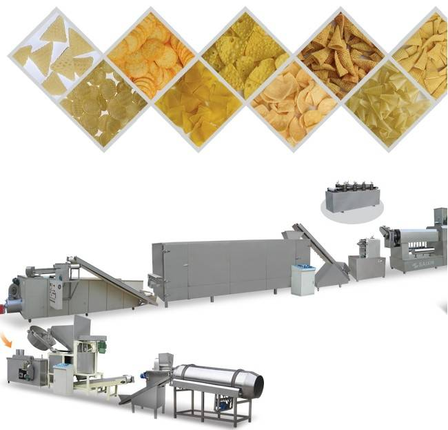 Screw / Shell / Crispy Pea Inflating Food Processing Line