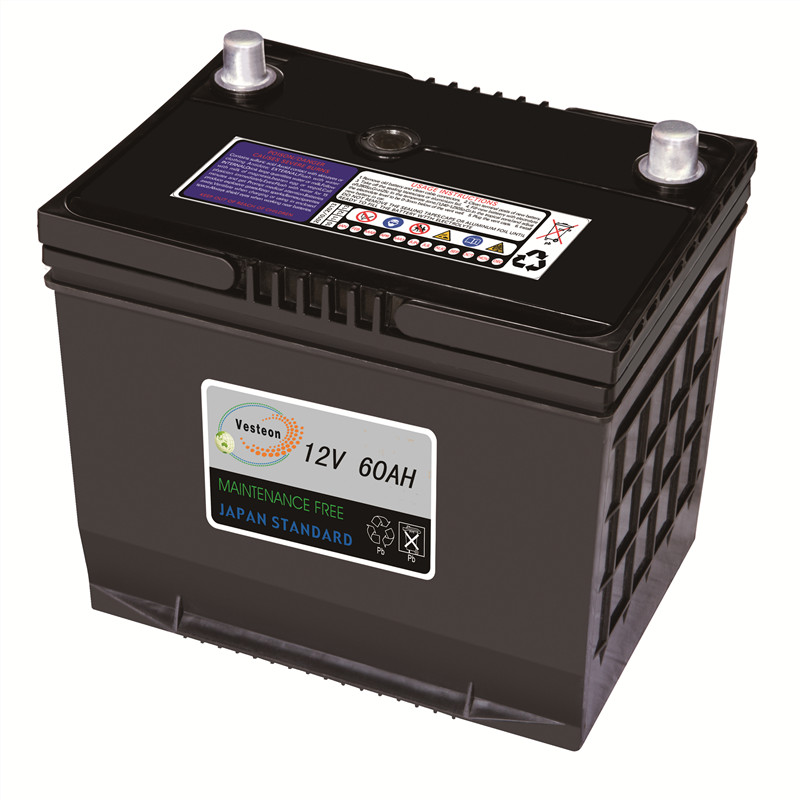 DIN60 SMF 12v60ah car battery wholesale