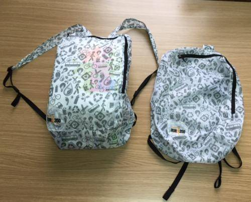 Parachute material collapsible bags