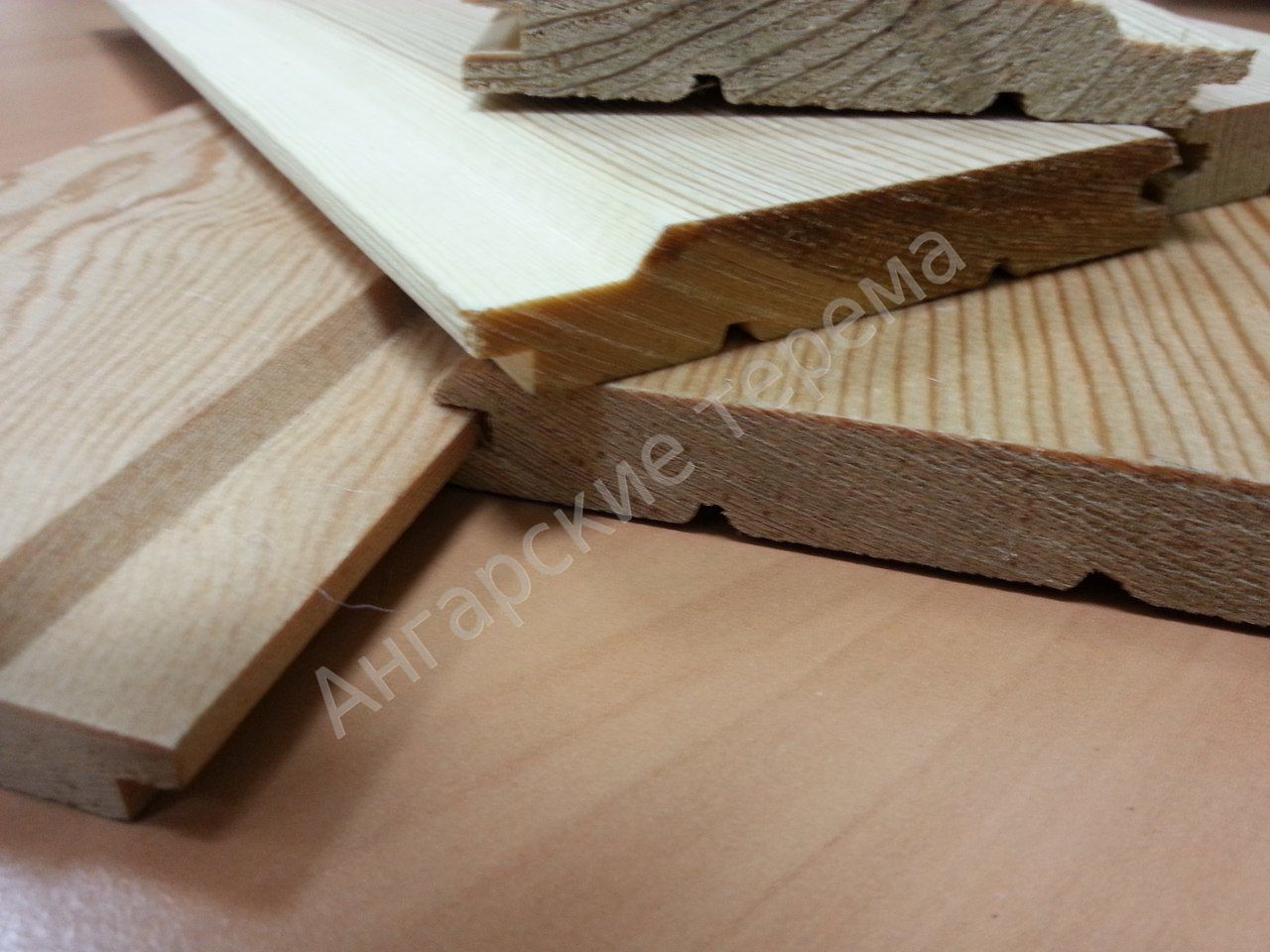 Siberian larch Lining (siding, cladding) differnent profiles, direct sale from manufacturer