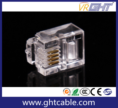 Gold-Plated Network Crystal Head/Rj11 Connectors/6p4c Plug