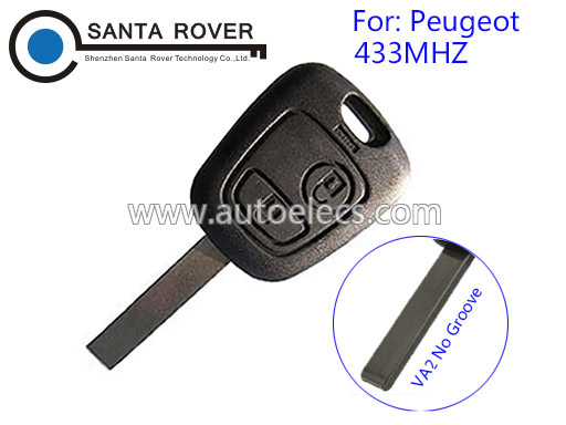 Keyless Entry For Peugeot 307 Remote Key 2 Button 433mhz Electronic 46Chip inside VA2 blade