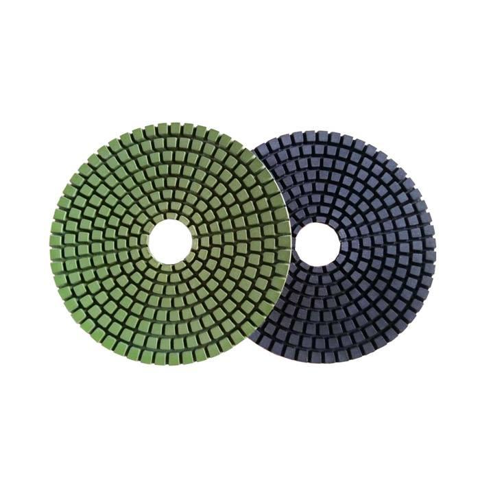 Diamond polishing pad for granite wet