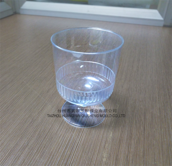 PS round wine glass container with base plastic mould
