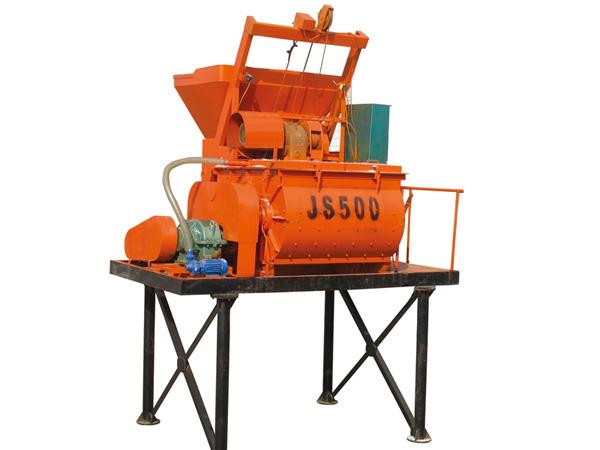 Good quality twin-shaft concrete mixer JS500 for sale