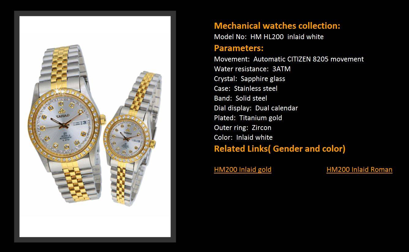Mechanical watches collection: