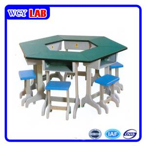 Laboratory Furniture Hexagon Electrics Table and Dest