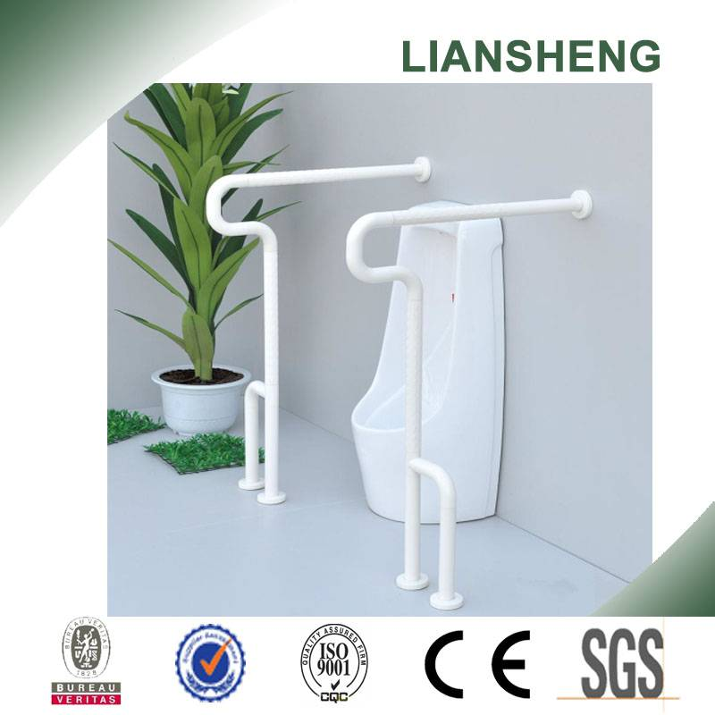 Split design washroom nylon grab bar