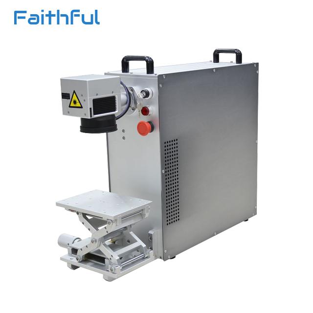 20w fiber laser name tag printing machine metal name plate