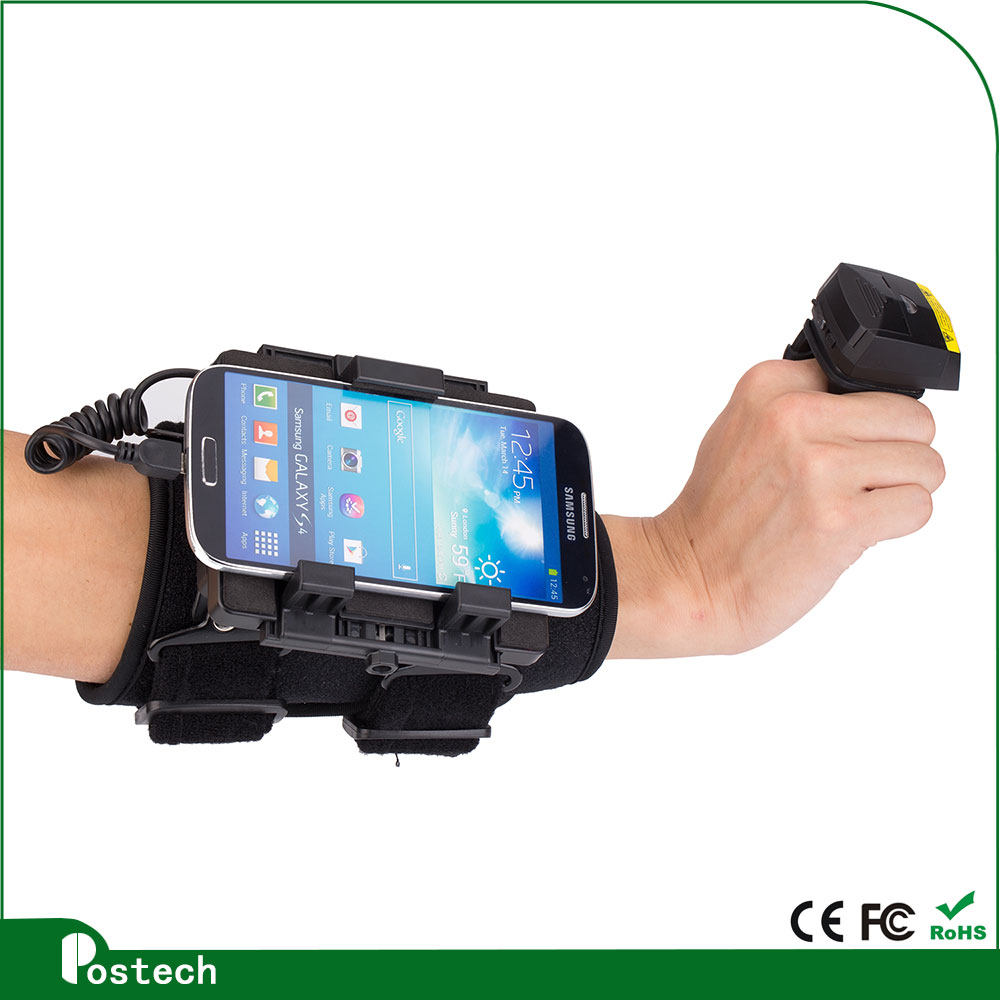 WT02 High sensitive adjustable wearable scanner armband for library supermarket and hospital