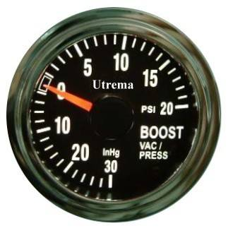 Utrema Auto Turbo Boost Gauge Illuminated 52mm