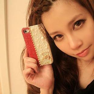 For iPhone 5/5S/5C pearl cell phone case SC-LT-ID915