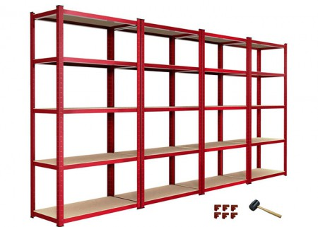 5 Tier Garage Shelving Unit Boltless Storage Racks