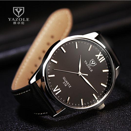 2017 unique brief fashion hotest business waterproof mens leather watches