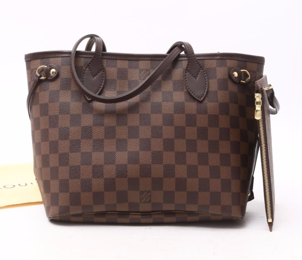 Used brand Handbag LOUIS VUITTON N41359 Neverfull PM Damier Shoulder Tote bags for bulk sale.
