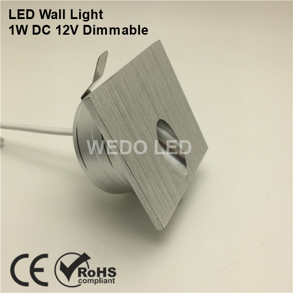 DC 12V Interior Silver Square LED Wall Stair Light
