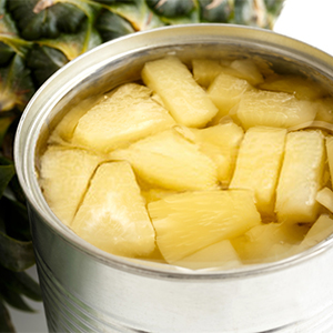 Diced Pineapple in Syrups