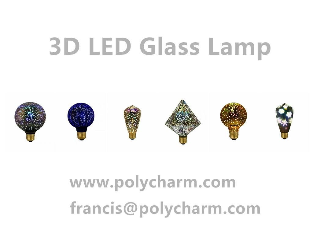 3D GLASS LED LAMP