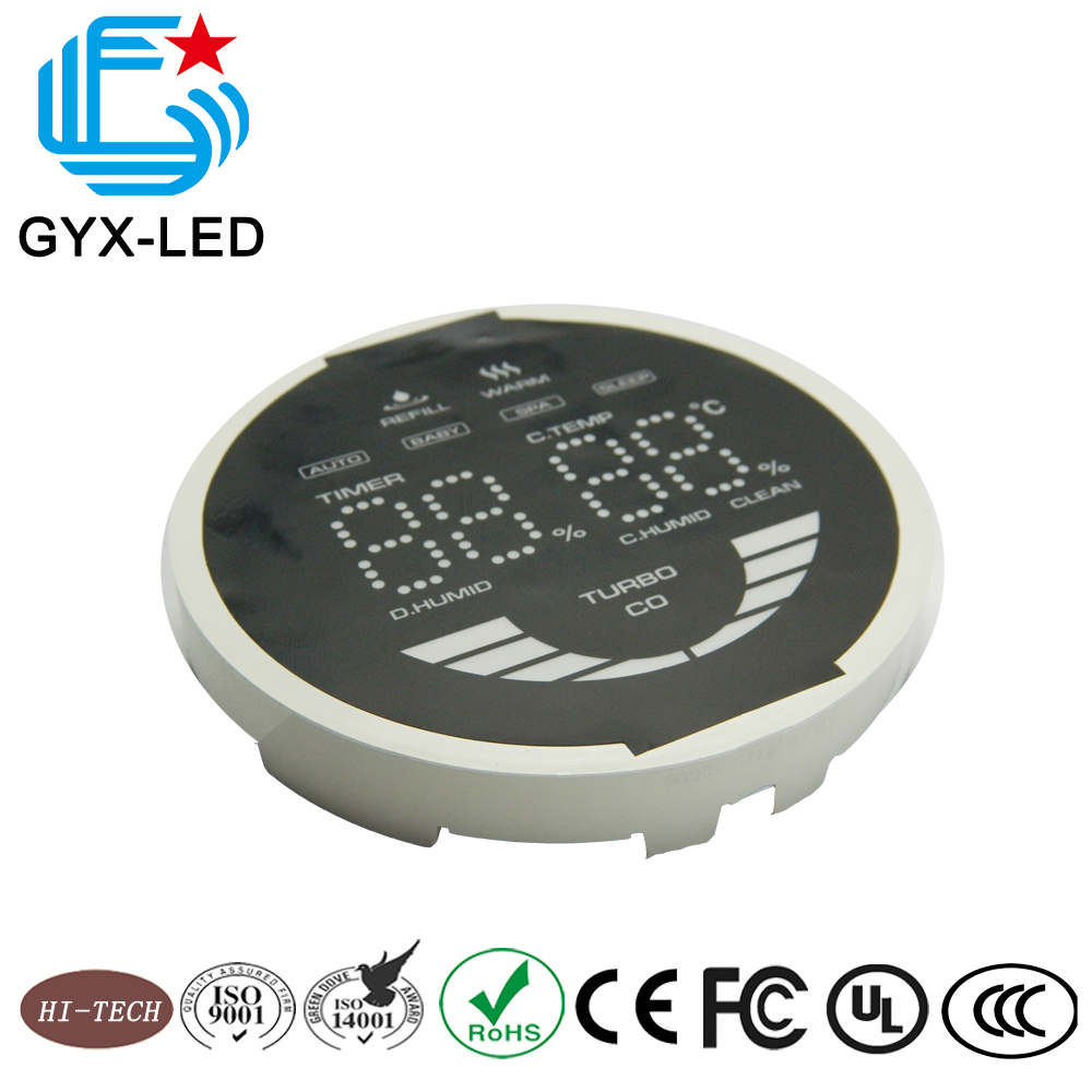 Good reliability full color custom LED digital graphic display module for washing machine