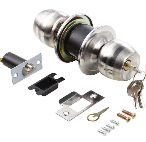 High Quality Stainless Steel Finish Knobset Commercial Entry Door Knob Lock