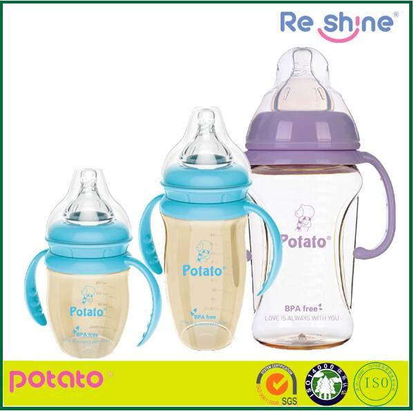 BPA free wide neck PPSU baby bottle feeding