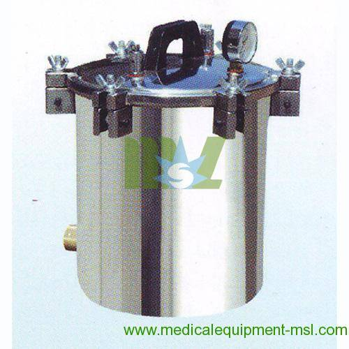 Portable stainless steel autoclave - MSLPS05