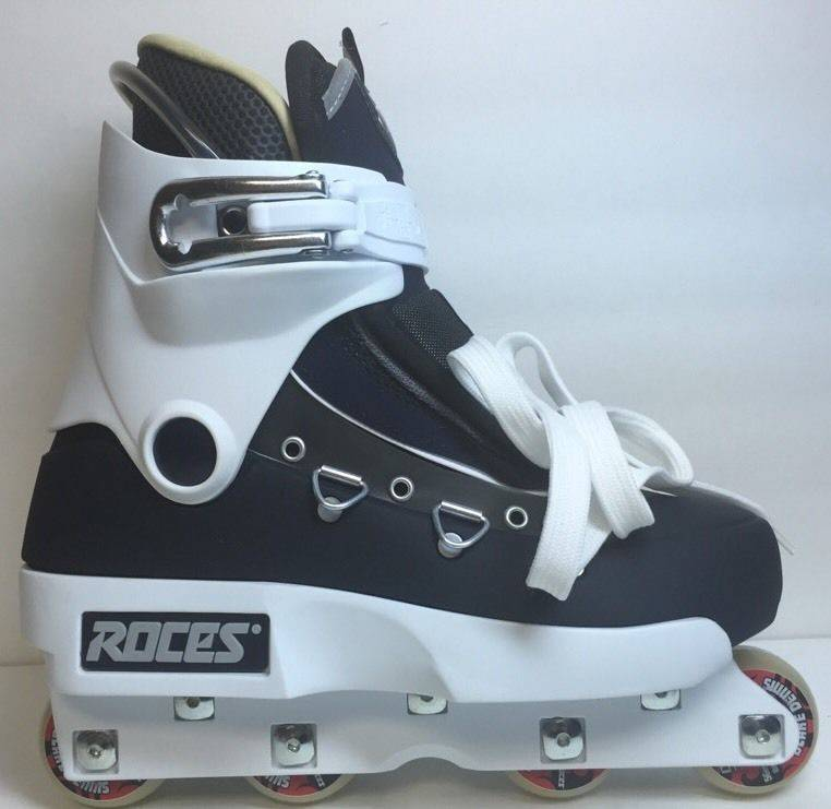 Roces Khuti Italy White Mens 8.5 EU 41.5 Aggressive InLine Skates Senate