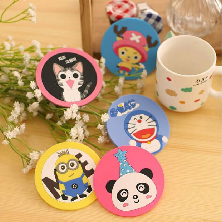 cartoon figure pvc cup pad for all kinds of cup and mugs