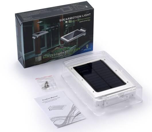 Solar light 46pcs LED solar motion sensor light for garden