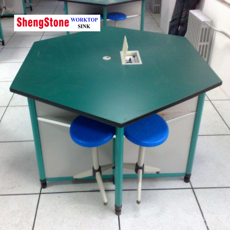 Primary and middle school laboratory phenolic or compact board worktops,good price lab worktops
