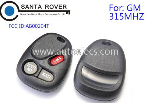 2+1 button remote control key fob for GM AB00204T 315Mhz