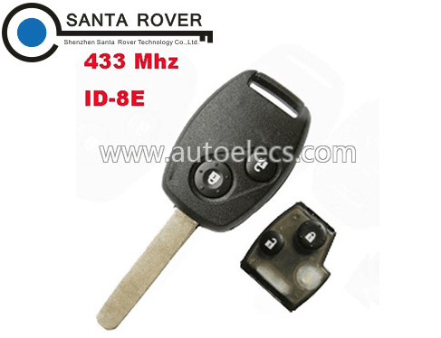 433MHz 2 button For Honda Remote Key (Euro) 8E Chip