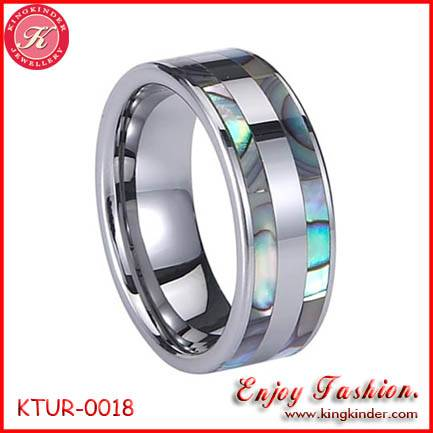 Abalone Shell Inlay Tungsten Ring, Wedding Ring, Tungsten Ring Wholesale