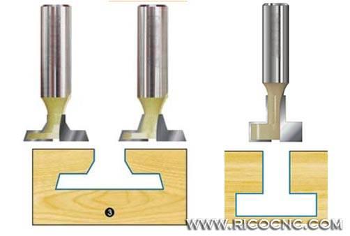 T Slatwall Channel CNC Router Cutter Bits for Slat Wall T Slot Cutting