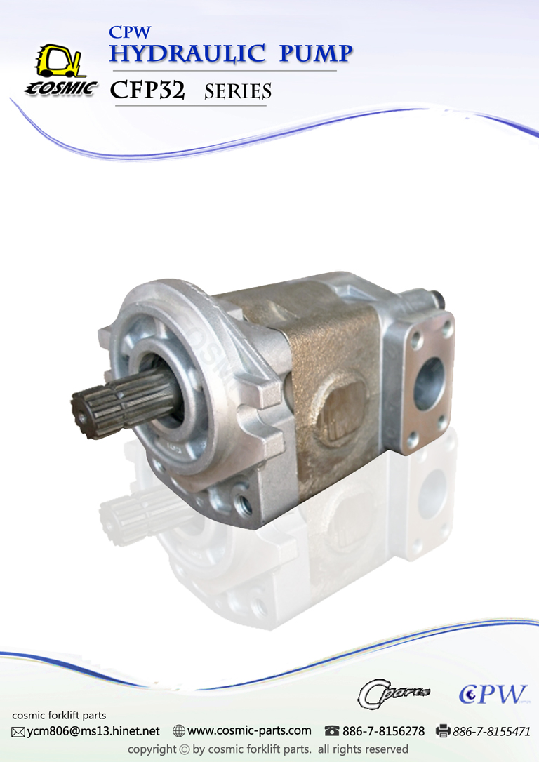 Cosmic Forklift Parts On Sale No.326-CPW HYDRAULIC PUMP CFP32 SERIES CATALOGUE (part no.)