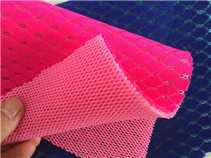 knitted polyester and polyamide jacquard air mesh fabric
