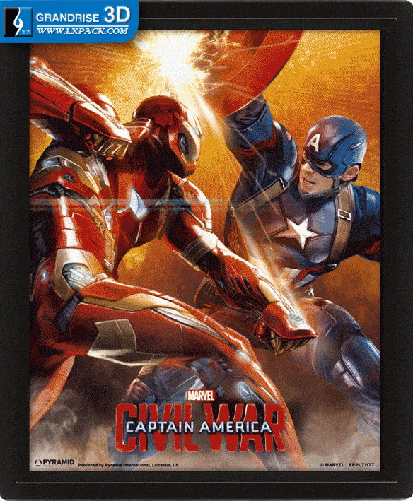 Captain America: Civil War Cover Poster Design To Be Lenticular Lens Effect