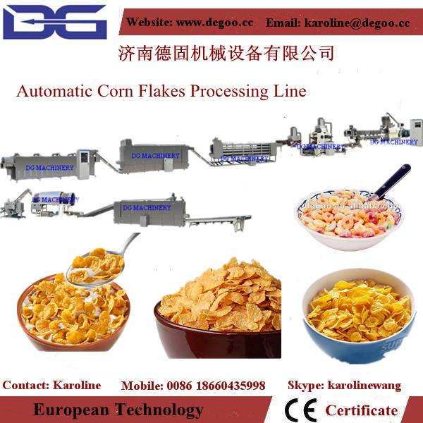 breakfast cereal corn flakes machinery production line